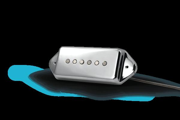 Fralin Noiseless Alnico P90 with Chrome Dogear Cover