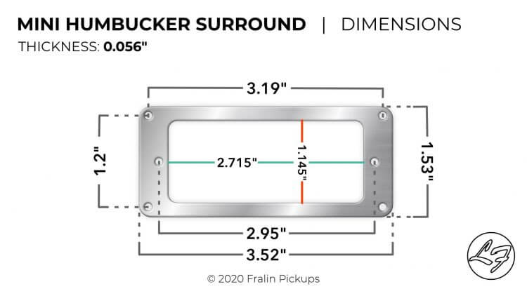 Mini Humbucker Mounting Plate Dimensions