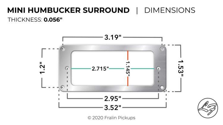 Mini Humbucker Mounting Plate Dimensions