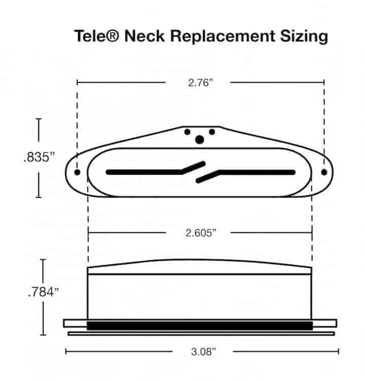Split Blade Tele Pickups  Noiseless Tele Tone  From
