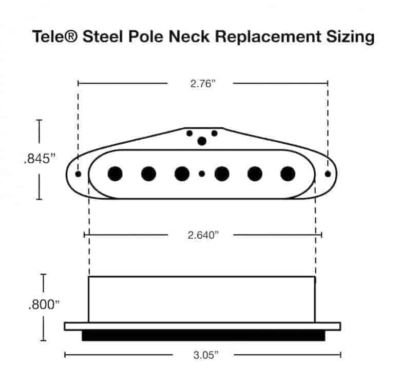 fralin steel pole 42 tele pickups bright  u0026 clear p90 tone