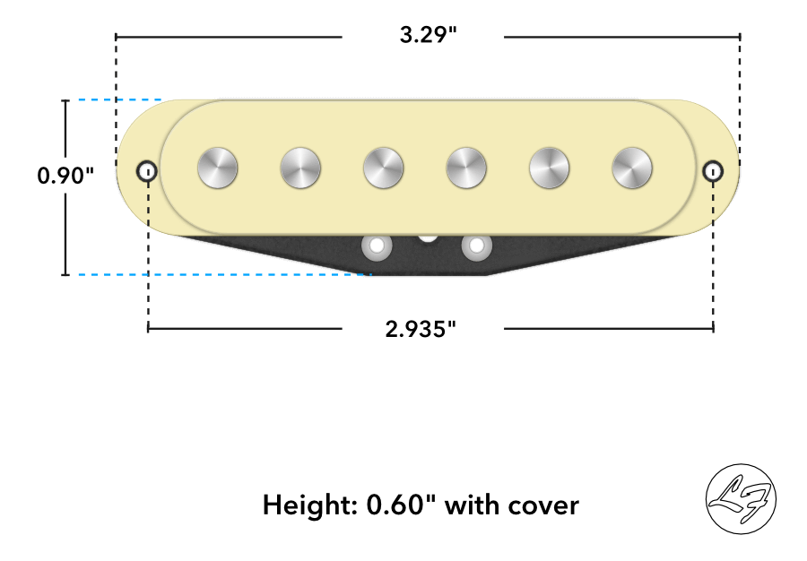 Fralin Strat Sizing & Dimensions