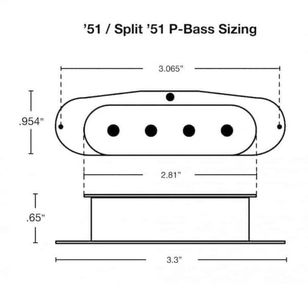 51 P-Bass Sizing and Dimensions