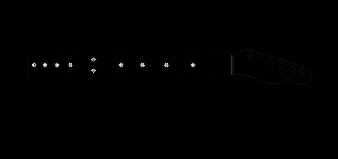 Lindy Fralin Telecaster Neck Dimensions