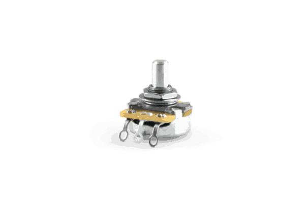 CTS 250K Solid Shat Audio Taper Pot With Hardware