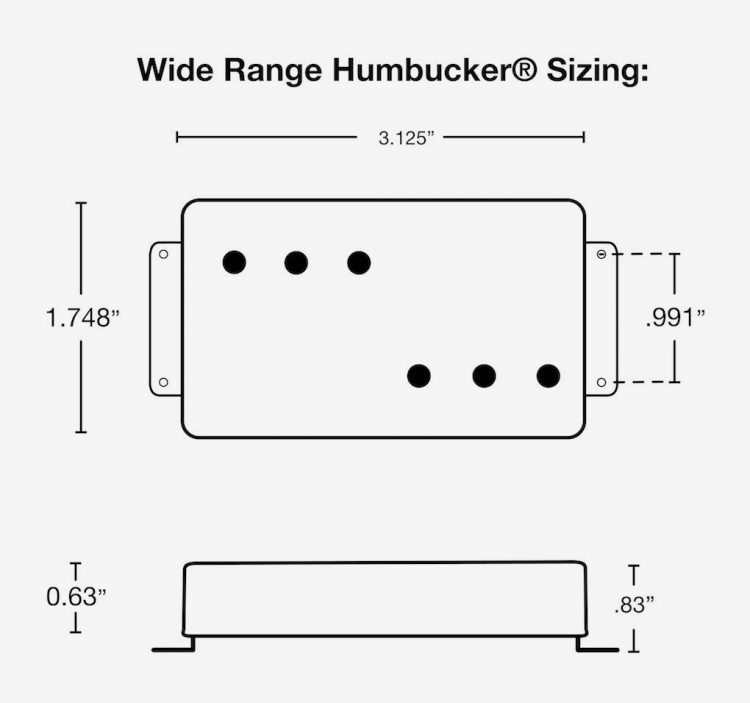 Wide Range Humbucker Dimensions