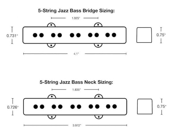 5-String Jazz Bass Dimensions