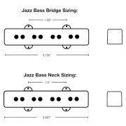 Jazz Bass Dimensions