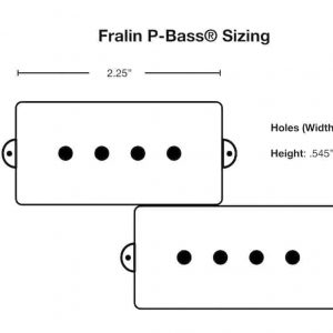 P-Bass Dimensions