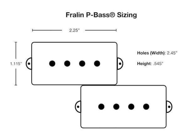 P-Bass Dimensions