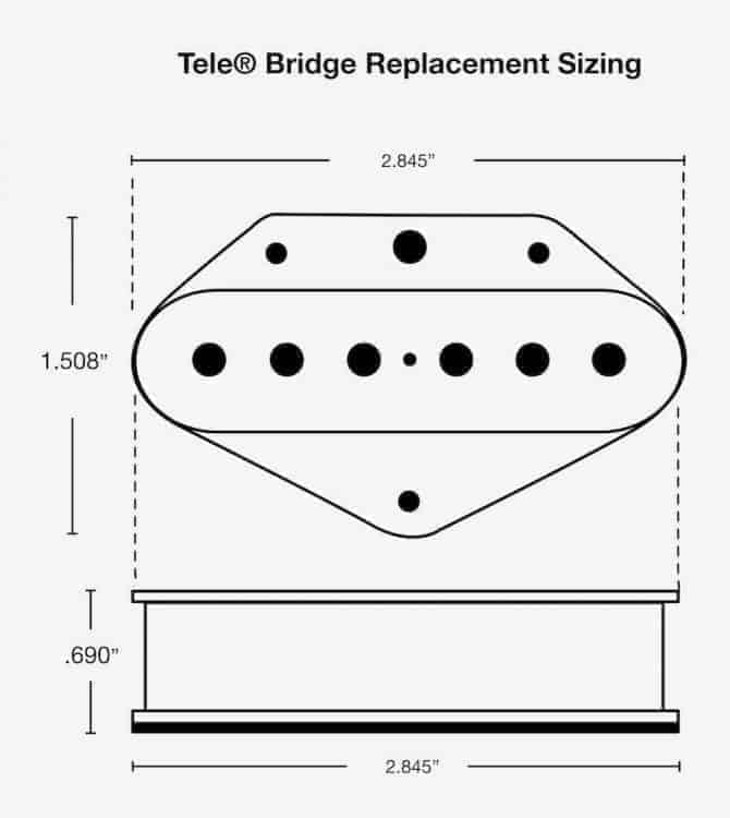 Tele Bridge Dimensions 670x750 fralin blues special tele pickups vintage vibe, modern bite for tele twisted tele neck pickup wiring diagram at fashall.co