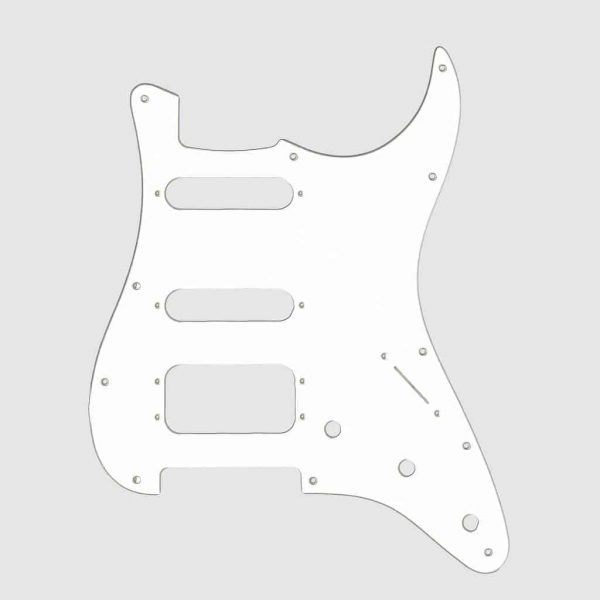 Fralin 4 Split Blade Pickguard White