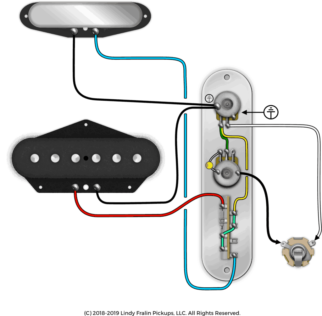 Flipped Control Plate For Telecaster Wiring - Fralin Pickups on