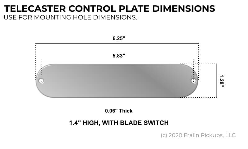 Telecaster Control Plate Dimensions