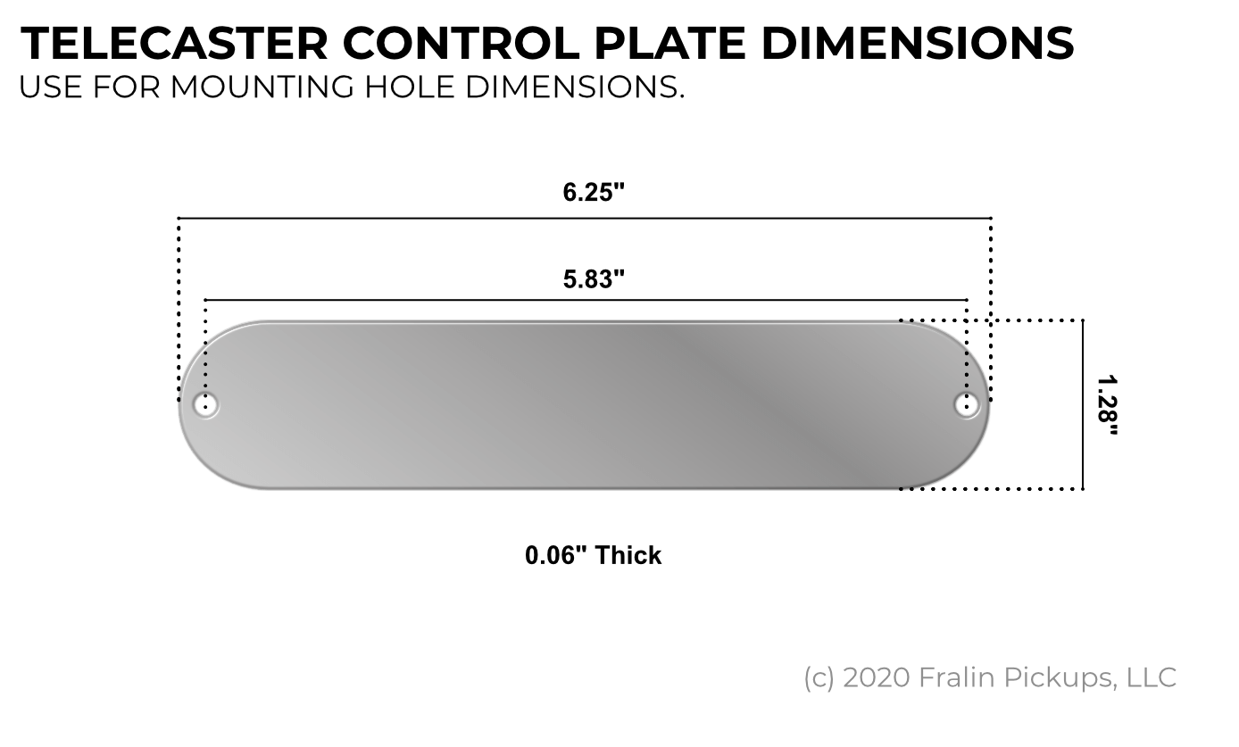 Fralin Telecaster Control Plate Dimensions