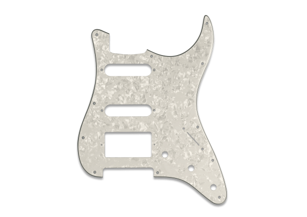 4 Ply Aged White HSS Pickguard