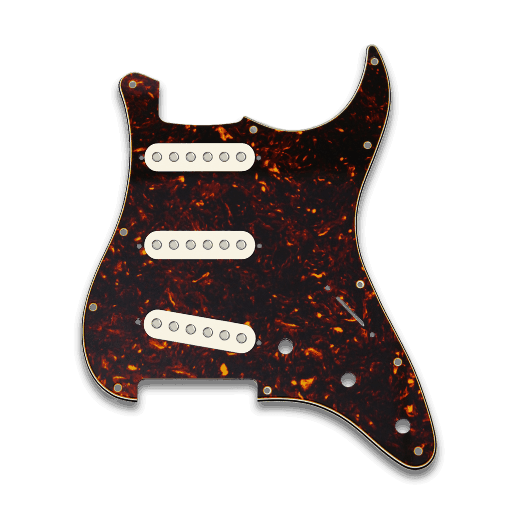 Tortoise Pickguard – Aged White Covers