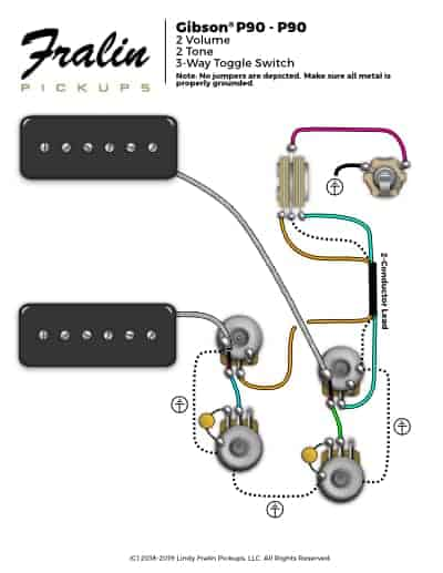 2 P90 Gibson Wiring Diagram Les Paul
