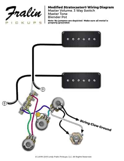 Soapbar P90s In a Strat Wiring Diagram