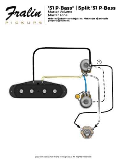 51 P Bass Wiring Diagram Fralin Pickups