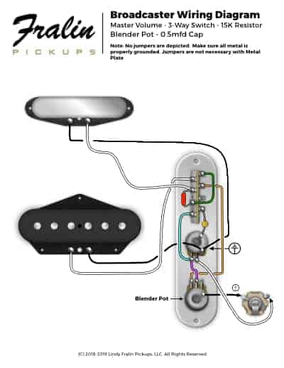 Broadcaster Wiring Diagram Fralin Pickups