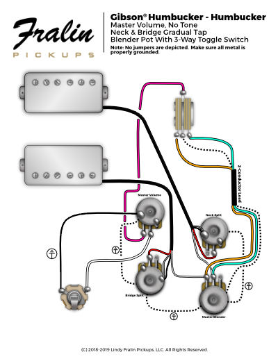 gibson with gradual split & blender  2 p90 gibson wiring diagram les paul