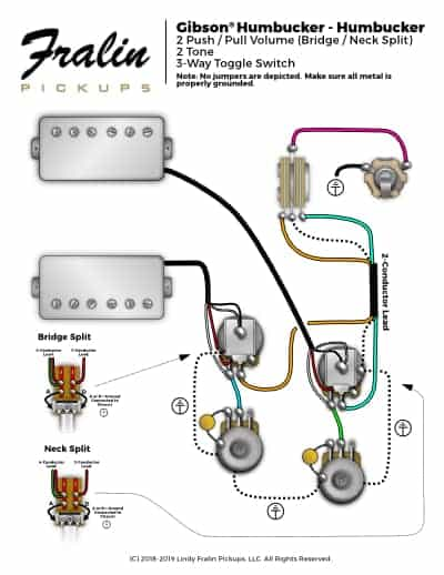 Gibson Les Paul Wiring Diagram With Coil Splitting Fralin Pickups