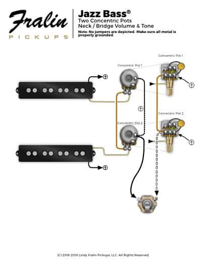 jazz bass with concentric pots  pj bass wiring diagram