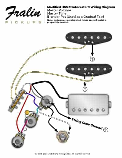 [SCHEMATICS_48ZD]  Wiring Diagrams by Lindy Fralin - Guitar And Bass Wiring Diagrams | Fender Noiseless Pickups For Stratocaster Wiring Diagram |  | Fralin Pickups