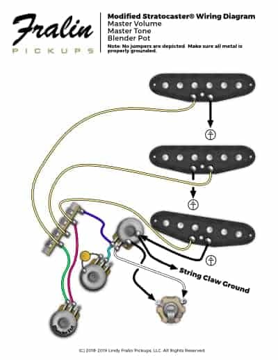 Fender Stratocaster Wiring Diagram With Blender Pot Fralin Pickups
