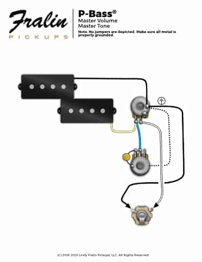 P-Bass Wiring Diagram Fralin Pickups
