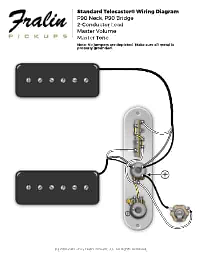 p90 neck & bridge wiring  telecaster deluxe wiring diagram fralin pickups
