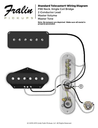 telecaster with p90 neck  telecaster with humbucker neck wiring digram