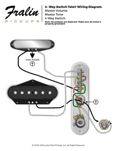 4-Way Switch Telecaster Wiring Diagram