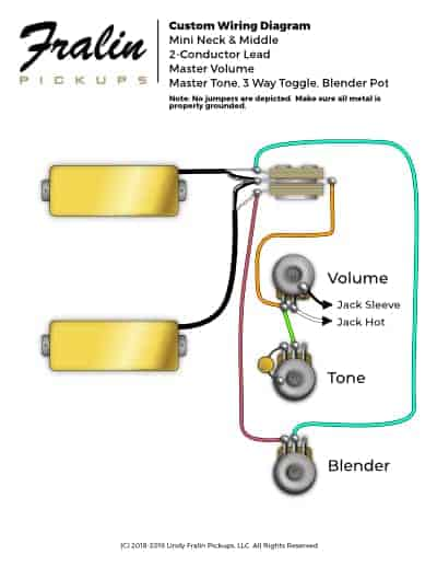Mini Humbucker Wiring Diagram With Master Tone And Blender