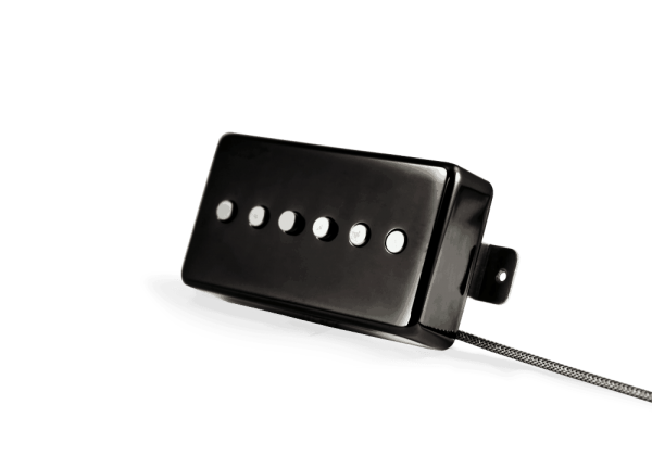 Alnico Noiseless P90 Humbucker Jet Black Nickel