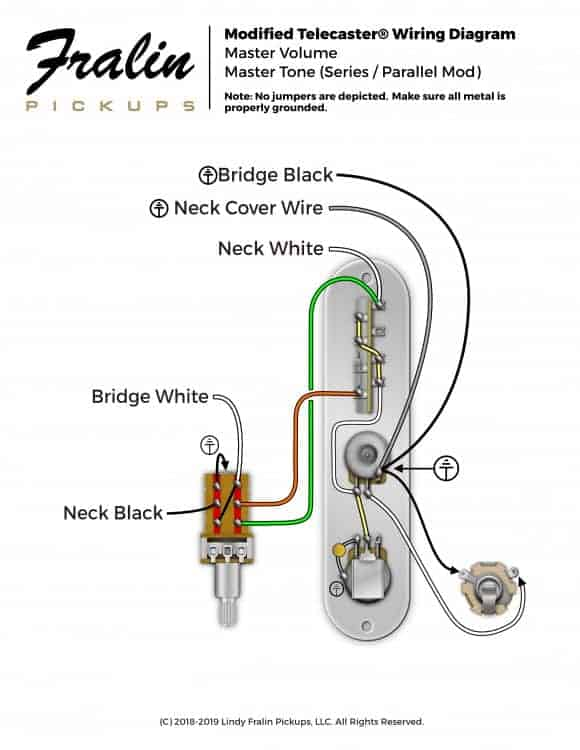 Series-Parallel-Mod  Conductor Humbucker Wiring Diagram on