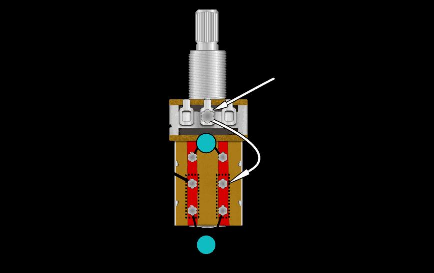 Two Tone Caps Push-Pull Pot - Fralin Pickups
