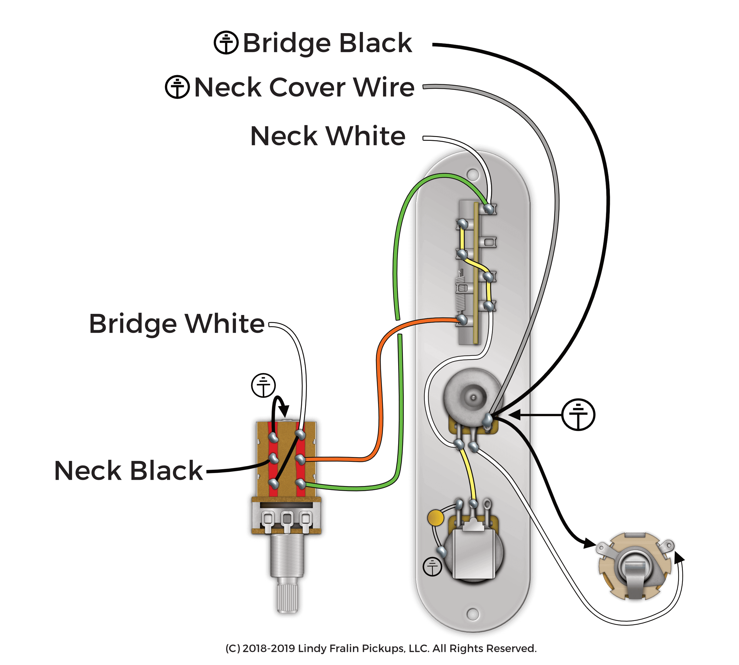 Fralin Pickups - 4-Way Switching With A Push Pull Pot | With Push Pull Tone Pot Wiring Diagram For Telecaster |  | Fralin Pickups