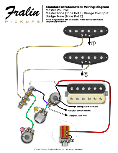 Wiring Diagrams by Lindy Fralin - Guitar And Bass Wiring Diagrams | Guitar Wire Harness Schematic |  | Fralin Pickups