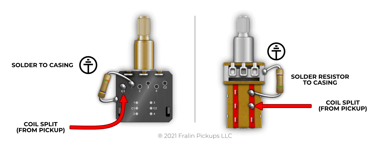 Coil Splitting With A Partial Split Resistor